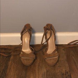 Strapy heels!